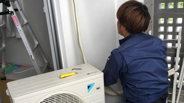 家庭用ルームエアコン設置工事